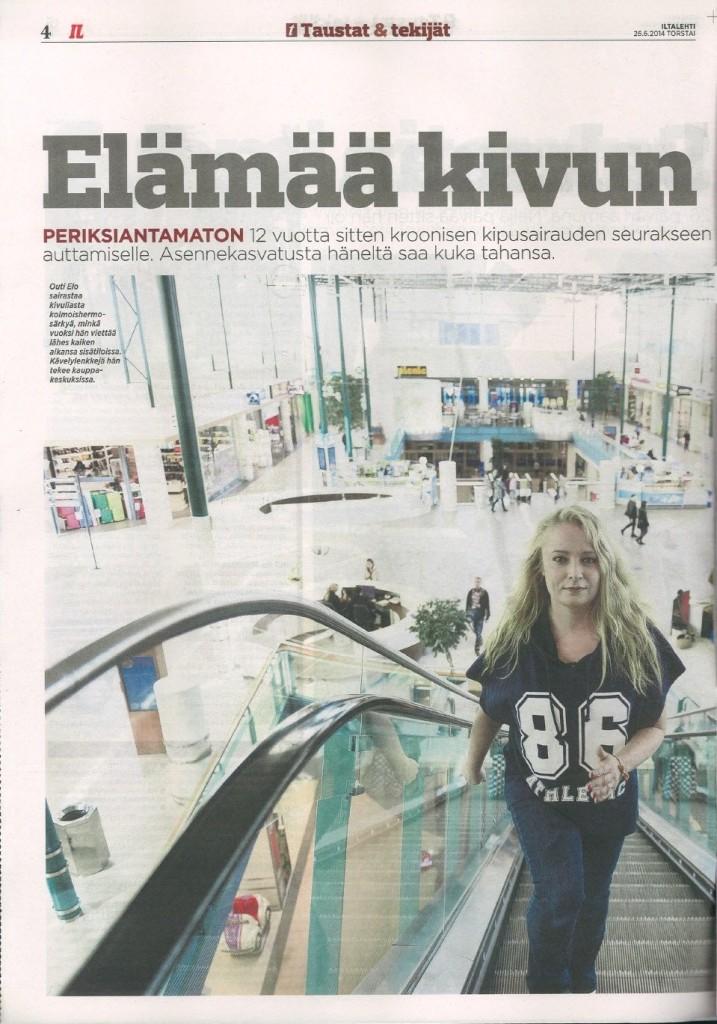 Iltalehti: Elämää kivun kanssa 2 Teksti: Hilkka Karvonne Kuvat: Jarmo Juuti