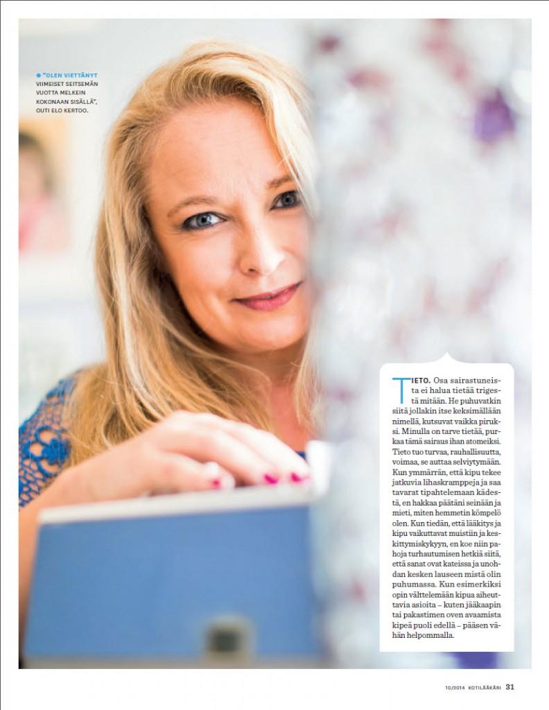 Kotilääkäri 10/2014 Teksti Nina Sarell Kuvat Pekka Holmström